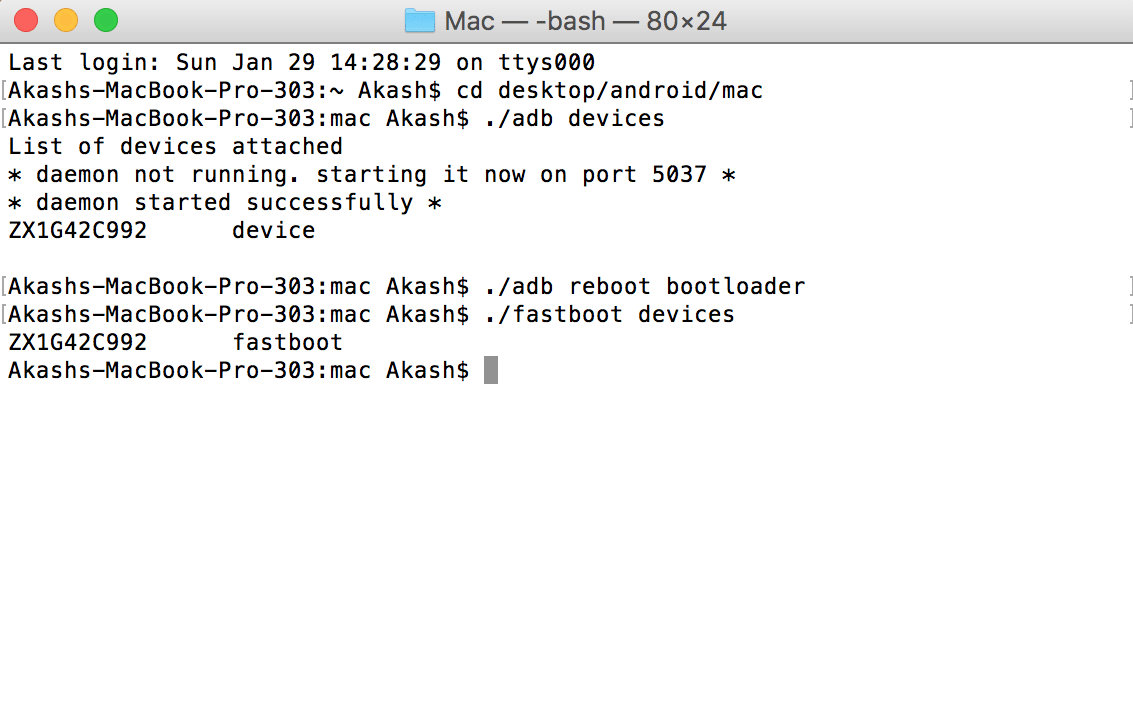 to Check Devices connected in fastboot mode