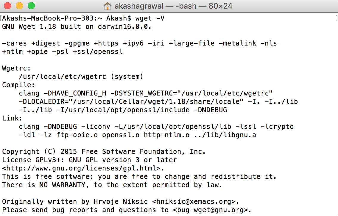 Checking wget running successfully