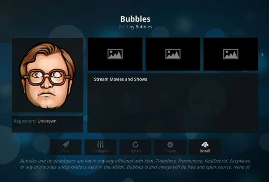 Bubbles - Kodi add-ons
