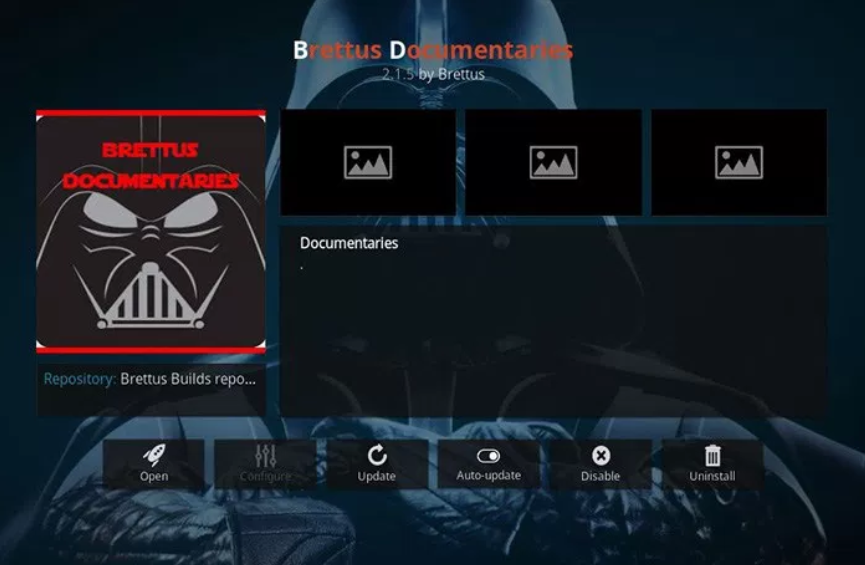 Brettus Documentaries - Kodi add-ons
