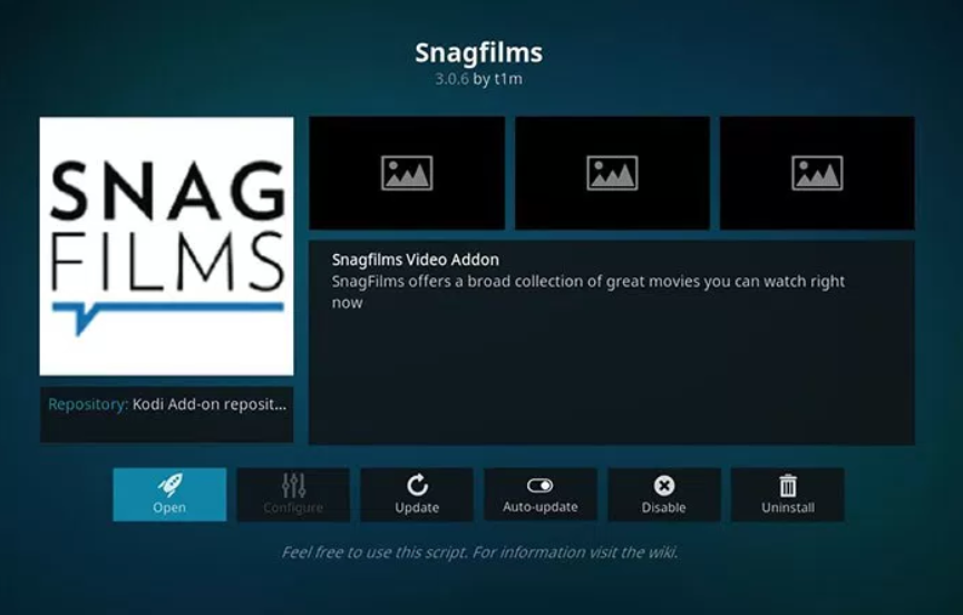 SnagFilms - Kodi add-ons