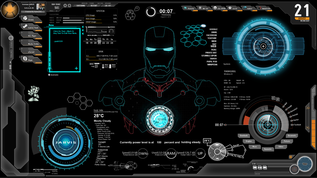 25 Best Rainmeter Skins For Windows 7 8 10 Agatton