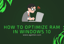 optimize RAM in windows