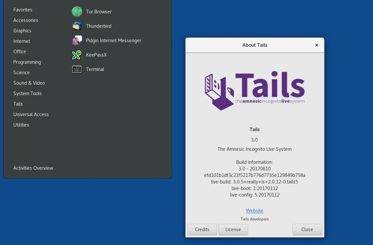 Tails – Distro looking for anonymity and privacy