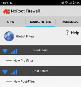 block sites using firewall