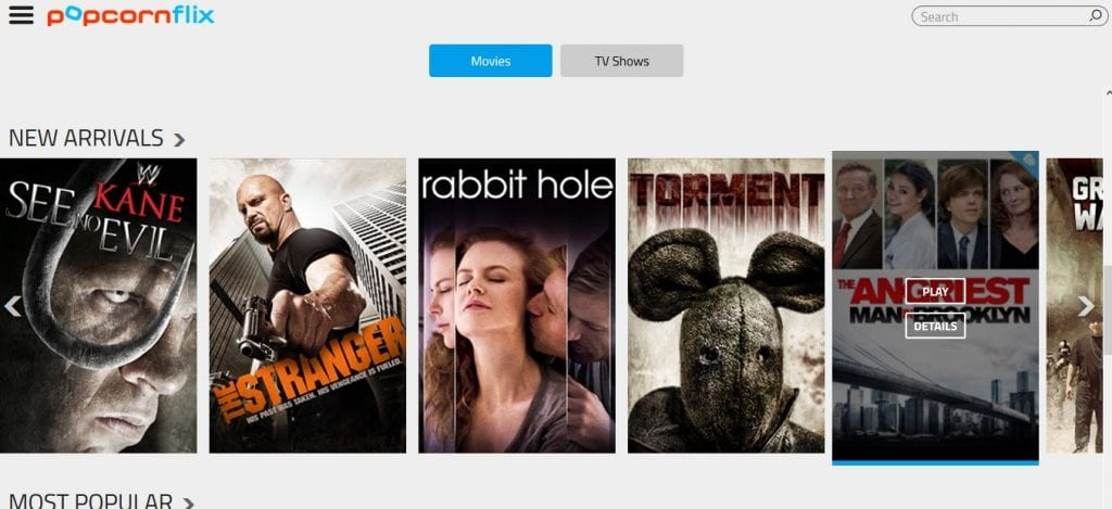 popcornflix - Free Movies Streaming Without Sign Up