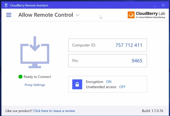 TeamViewer Alternative: CloudBerry Remote Assistant