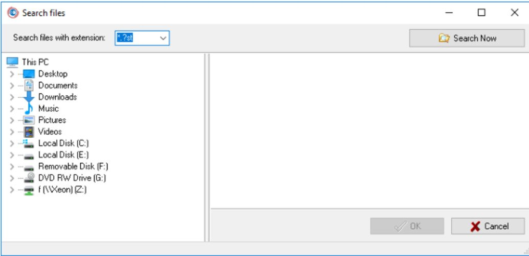 choose the file to convert from ost to pst