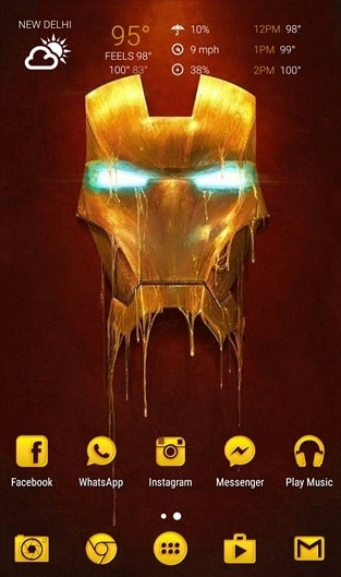 nova launcher- Iron-Man