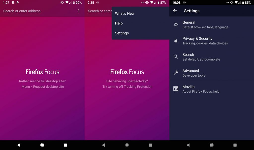 Firefox Focus is the UC browser alternative for Great privacy without sacrificing features.