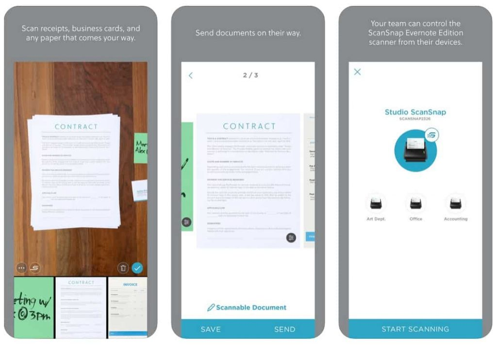 Evernote Scannable is a Great CamScanner alternative for iOS users