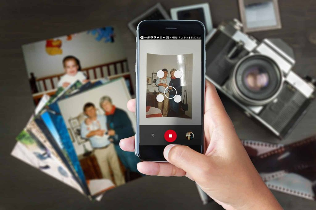 Photo Scan by Google is Great for scanning old printed photos